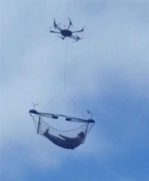 Flying Hammock by Now You Can Add A Drone Powered Hammock To Your
