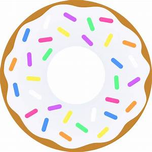Vanilla Donut With Sprinkles - Free Clip Art