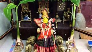 Varalakshmi puja decoration - YouTube