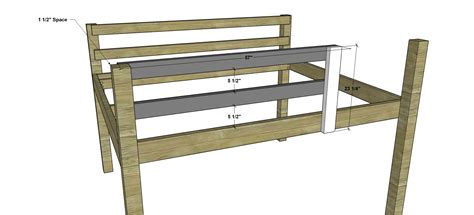 woodworking plans  build  full sized  loft bunk