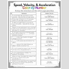 Speed Velocity And Acceleration Worksheet The Best Worksheets Image Collection  Download And