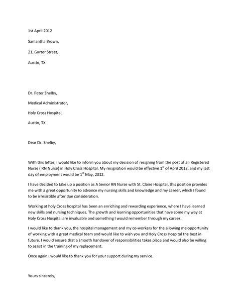 sample resignation letterwriting  letter  resignation