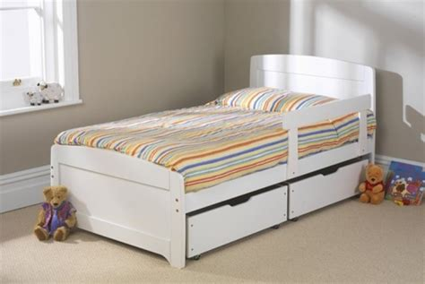 Small Single Bed by Friendship Mill Rainbow White Bed 3ft Single Wooden Bed