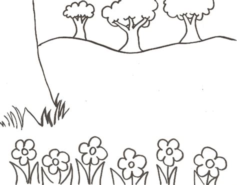 spring scenes coloring pages desert scene coloring pages