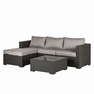 Rattan Lounge Grau : sofa set paradise lounge 3 teilig rattan stoff home24 ~ Watch28wear.com Haus und Dekorationen