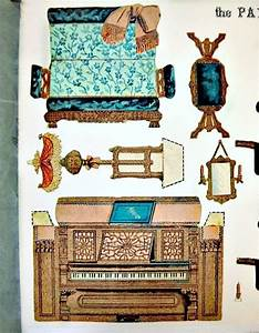 Paper Model Cut Out Paper Parlor 1892 Furniture Victorian
