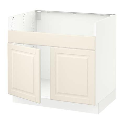 sektion base cabinet f domsj 214 2 bowl sink white bodbyn