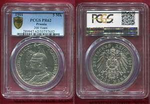 5 Mark Gedenkmünze Commemorative Silver 1901 Preußen ...