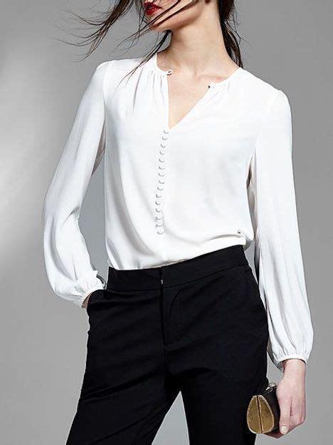 la blusa blanca versatil  elegante  modelos  estilos