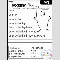 Free Reading Fluency And Comprehension (set 1)  1st He Read  Reading Fluency, Fluency