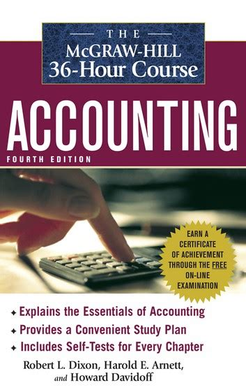 The Mcgrawhill 36hour Accounting Course, 4th Ed Ebook By Robert L Dixon 9780071662017