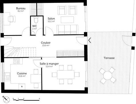 Plan Maison Avec Appartement Plan Maison 3 Chambres Et Terrasse Ooreka