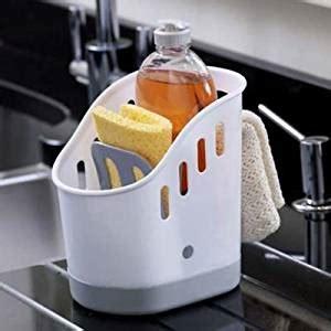 kitchen sink tidy lakeland porta spugne caddy per cucina colore bianco 2938