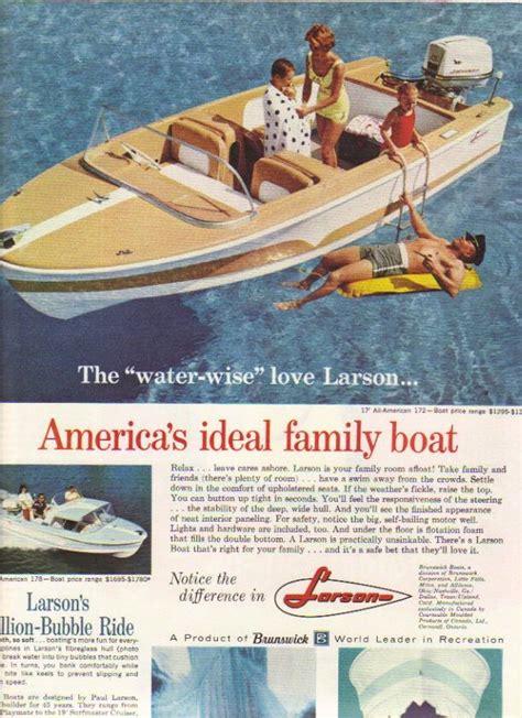 vintage ad  larson   american   boats
