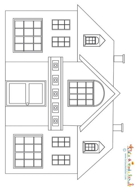 maison 224 petit fronton 224 imprimer coloriage maison t 234 te 224 modeler