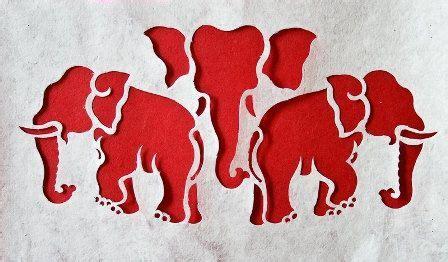 elephant heads symbol  lao kingdom