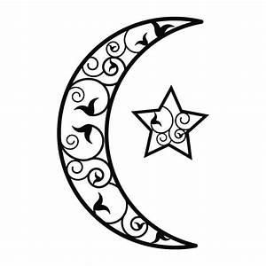 Lune Dessin Tatouage : sticker mural croissant de lune et toile d comotif ~ Melissatoandfro.com Idées de Décoration