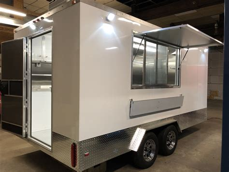 Custom Built Standard 8×16 Food Trailer Specifications and
