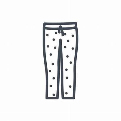 Pants Pajama Clip Line Illustrations Similar Vectors