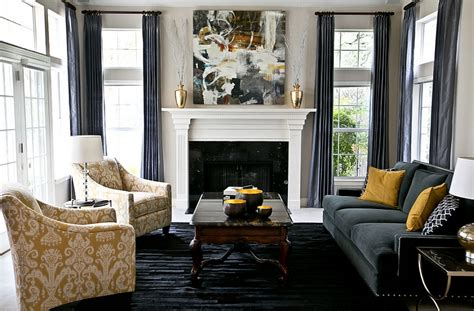Gray And Yellow Living Rooms Photos, Ideas And Inspirations