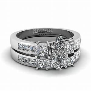 marquise shaped diamond wedding ring sets with white With marquise diamond wedding ring sets
