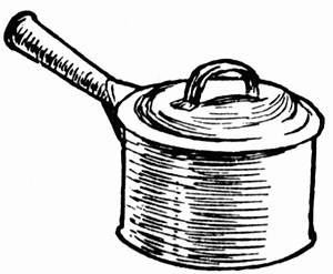 How to draw a cooking pan