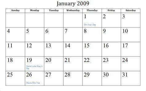 archive calendars