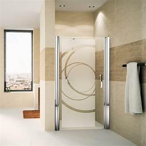 sticker porte de douche courbes design stickers art et With porte de douche coulissante avec deco salle de bain rouge