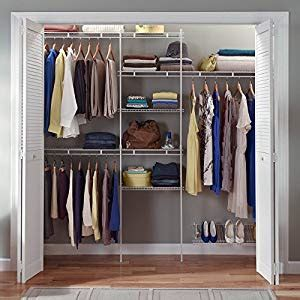 Amazoncom  Closetmaid 1608 Delux Closet Organizer Kit, 5