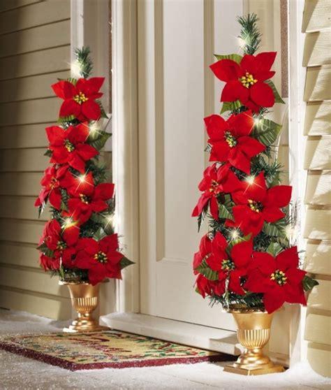 sensational christmas front door decor  lovely red