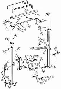 Parts Breakdown For Rotary Lift Model Spo84  Svi