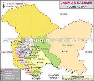 Jammu & Kashmir Political Map | Political Map of Jammu ...