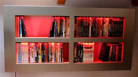 dvdbluray regal selbstgebaut mit led beleuchtung youtube