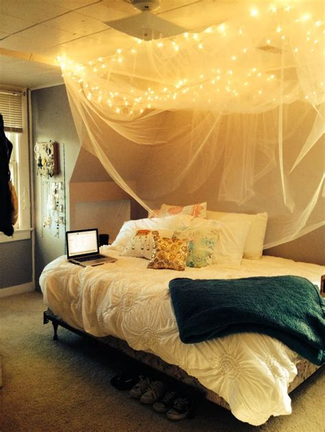 Diy Rustic Bed Canopy  Home Decor  Pinterest Bed