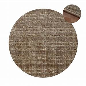 tapis rond sur mesure marron en viscose With tapis rond sur mesure