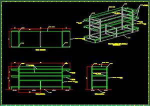 Supermarket Shelves 2D DWG Detail for AutoCAD • Designs CAD