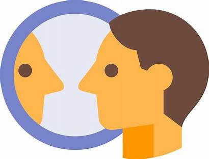 Clipart Self Mirror Introspection Icon Pinclipart Transparent