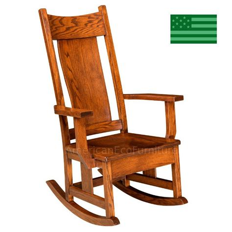 amish shelby rocking chair solid wood made in america
