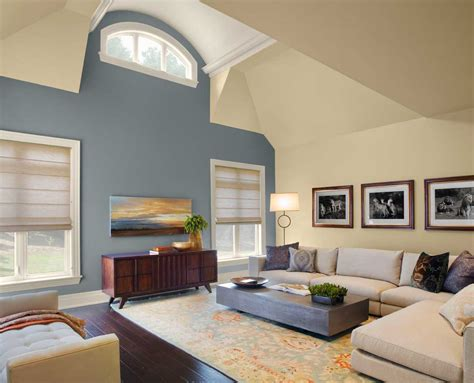 Paint Color Ideas For Living Room With Gray And Cream Wall
