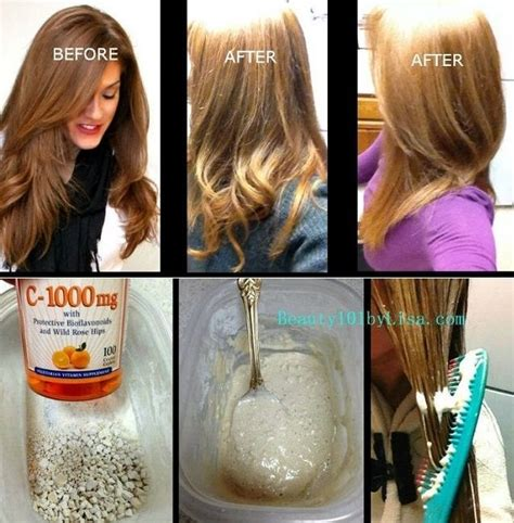 vitamin c hair color remover hair lightening and color removal method dolled