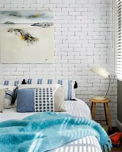 Mur Brique Blanc : la chambre coucher en briques et pierres 43 propositions ~ Mglfilm.com Idées de Décoration