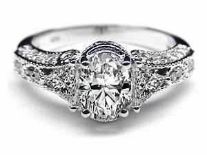 Women s antique diamond rings wedding promise diamond for Antique wedding rings for women