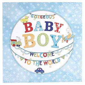 Gorgeous Baby Boy Card - Welcome To The World Card Factory