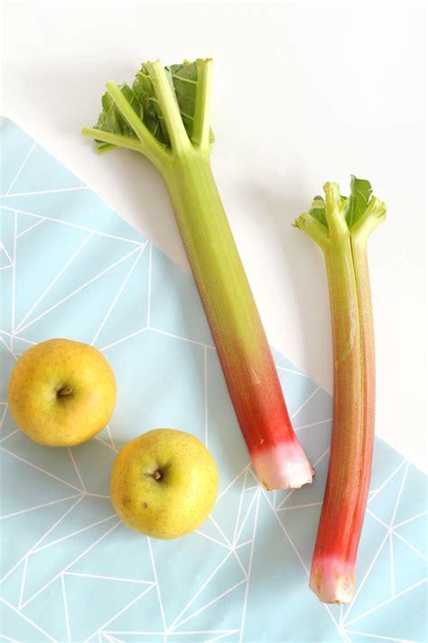 cuisiner la pomme crumble pomme rhubarbe vegan sans gluten sour