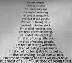 Quotes About Being Tired