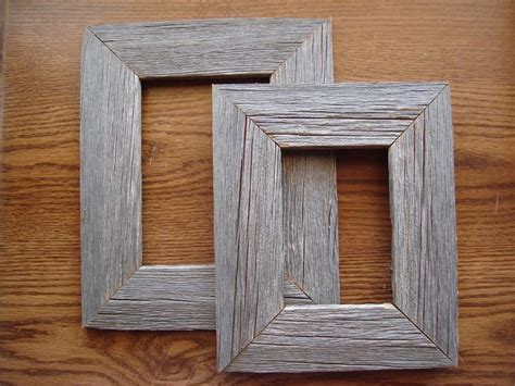 rustic wood picture frame reclaimed barnwood