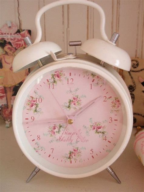 shabby chic alarm clock simply shabby chic clock pretty home pinterest