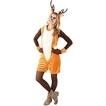 karneval kostüm reh buttinette reh kost 252 m aus weichem flauschstoff und