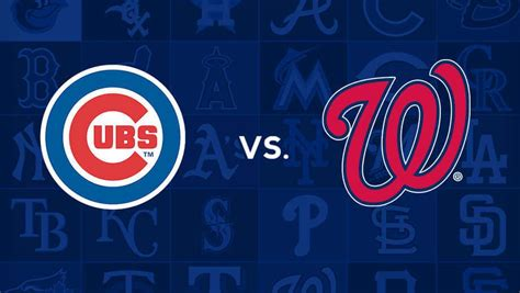 ver chicago cubs  washington nationals mlb en vivo ahora
