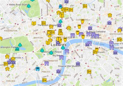 Carte Detaillee Des Monuments De by Plan De Londres Avec Monuments Sd18 Jornalagora